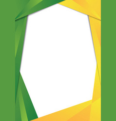 Green and yellow triangle frame border vector