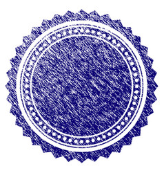 grunge textured round rosette seal vector image