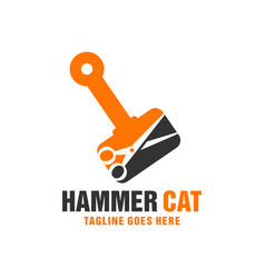 hammer cutting scissors inspiration logo vector image