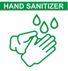Hand sanitizer icon sanitizer icon antiseptic vector