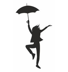 happy woman with umbrella vector image
