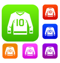 Hockey jersey set color collection vector