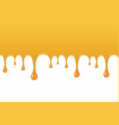 Honey drips down culinary wallpaper broshure vector