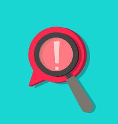 identify risk icon icon censored search vector image