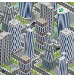 Isometric Architecture Business City Cityscape vector image vector image
