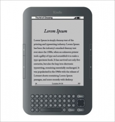 Kindle wireless reading device vector