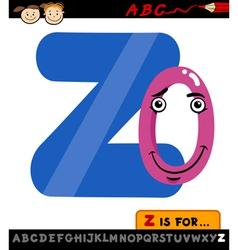 Letter z with zero cartoon vector