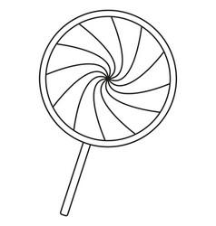 Line art black and white lollipop vector