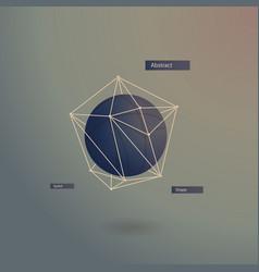 Lowpoly geometric shape vector
