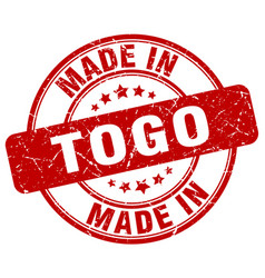 Made in togo red grunge round stamp vector