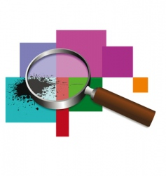 magnifier vector image