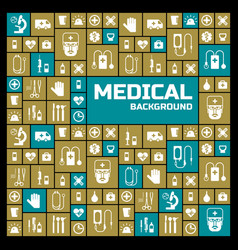 medical square design background vector image