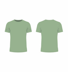 Mens green t shirt vector