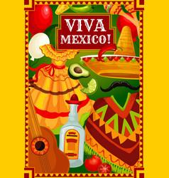 mexican holiday cinco de mayo fiesta celebration vector image