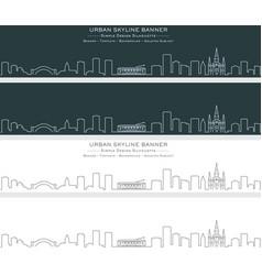 New orleans single line skyline banner vector