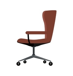 Office Chair Icon Symbol Isolated on White vector