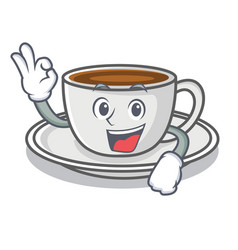 okay coffee character cartoon style vector image