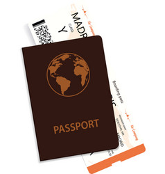 passenger boarding pass and passport vector image