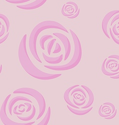 Pattern of light pink roses vector image