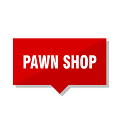 Pawn shop red tag vector