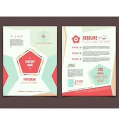 Pentagram business flyer vector