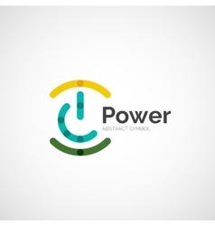 Power button logo design vector image