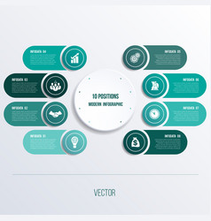 Process chart template for presentation 8 option vector