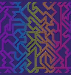 Rainbow curved geometric pattern vector