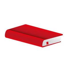 Red book closed icon vector