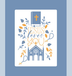 religion catholic church or cathedral and vector image