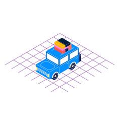 retro car isometric style vector image