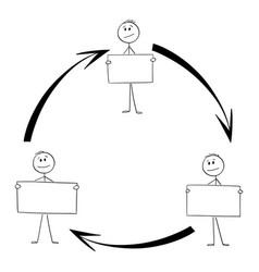 Scheme team or teamwork cooperation workers vector