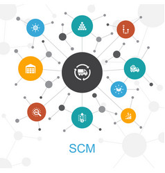 Scm trendy web concept with icons contains vector