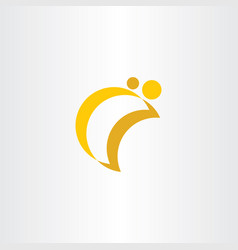 simple half moon logo icon vector image