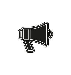 simple megaphone loudspeaker icon vector image