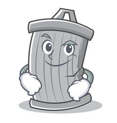smirking trash character cartoon style vector image