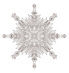 snowflake christmas adult coloring vector image