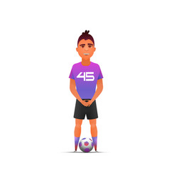 soccer player character design vector image