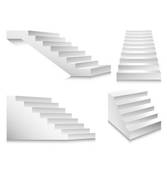 stairs or staircases and podium ladders vector image