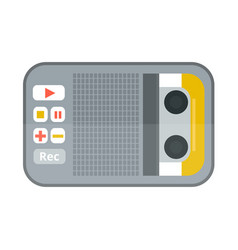 Tape recorder or dictaphone icon isolated on white vector