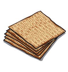traditional jewish matzoh vector image