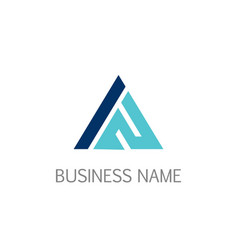 Triangle line business company logo vector