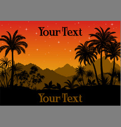tropical landscape with palms vector image
