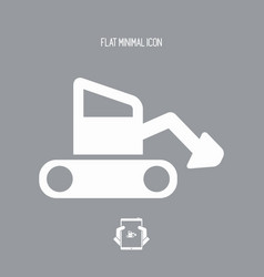 under construction - flat minimal icon vector image