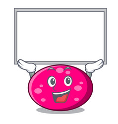 up board ellipse character cartoon style vector image