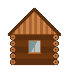 Wooden house architecture design estate old wall vector