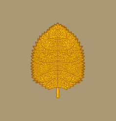 yellow autumn leaf vector image