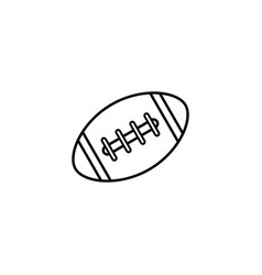 American football ball line icon college sport vector