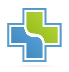 cross medical logo vector image vector image