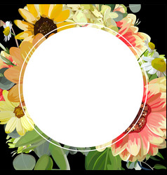 Design square card with round blank copy space vector